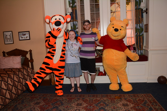 Us with Tigger and Pooh
