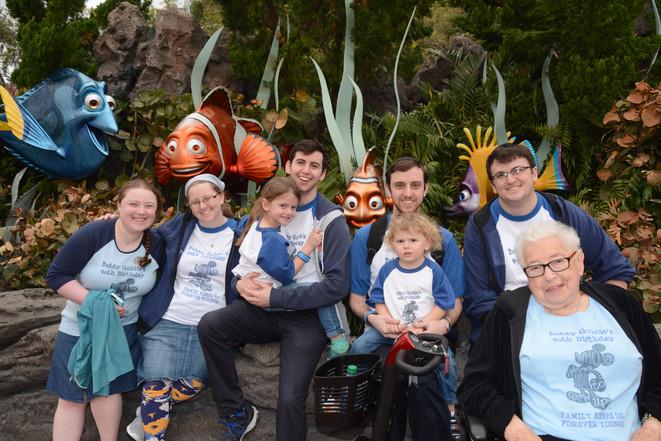 Bubby Goldie's 90th birthday at Disney World