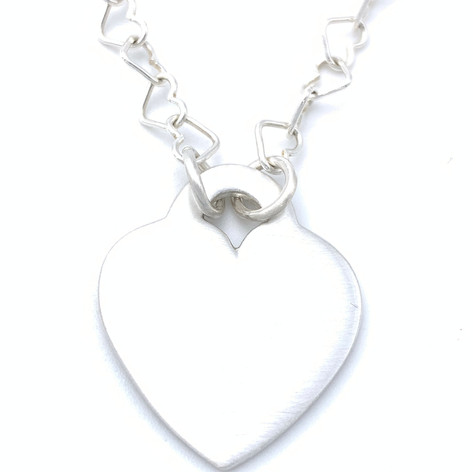 Heart Links Heart Necklace
