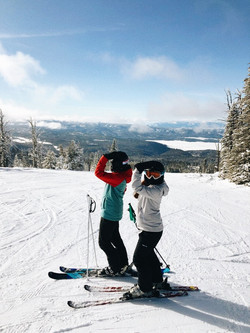hitting the slopes one sister at a time!