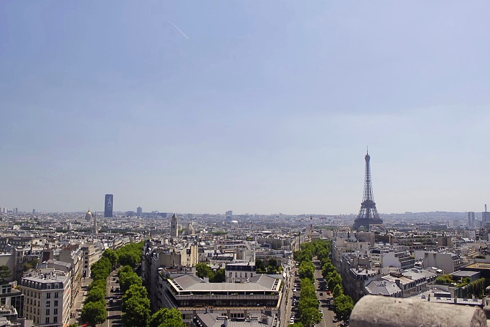 The view from the arch de Triomphe was stunning