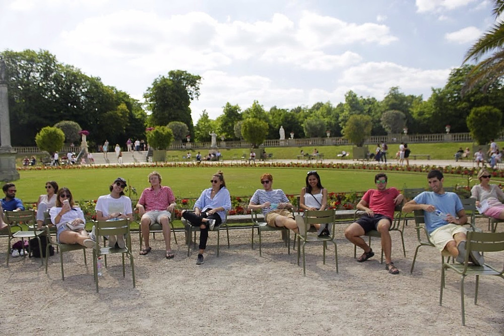Taking a break at the Luxembourg gardens