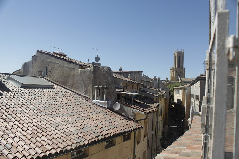 the view from our friend's apartment in Aix
