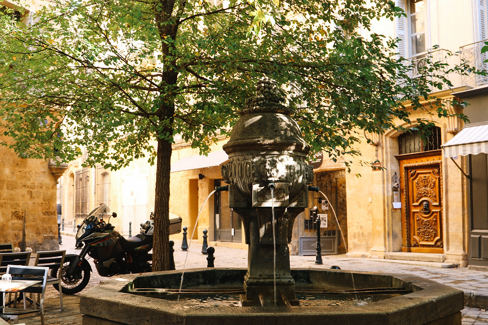 One of the many fountains