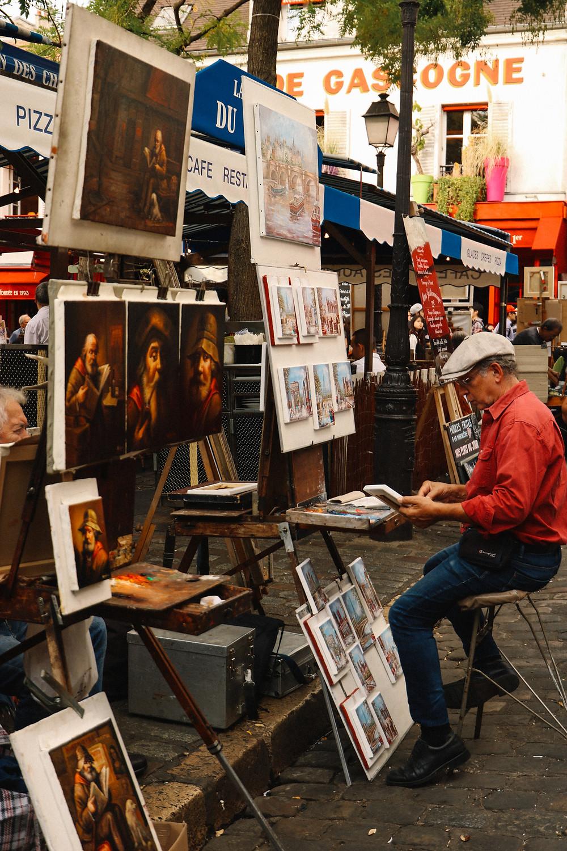 Artist's square in Montmartre