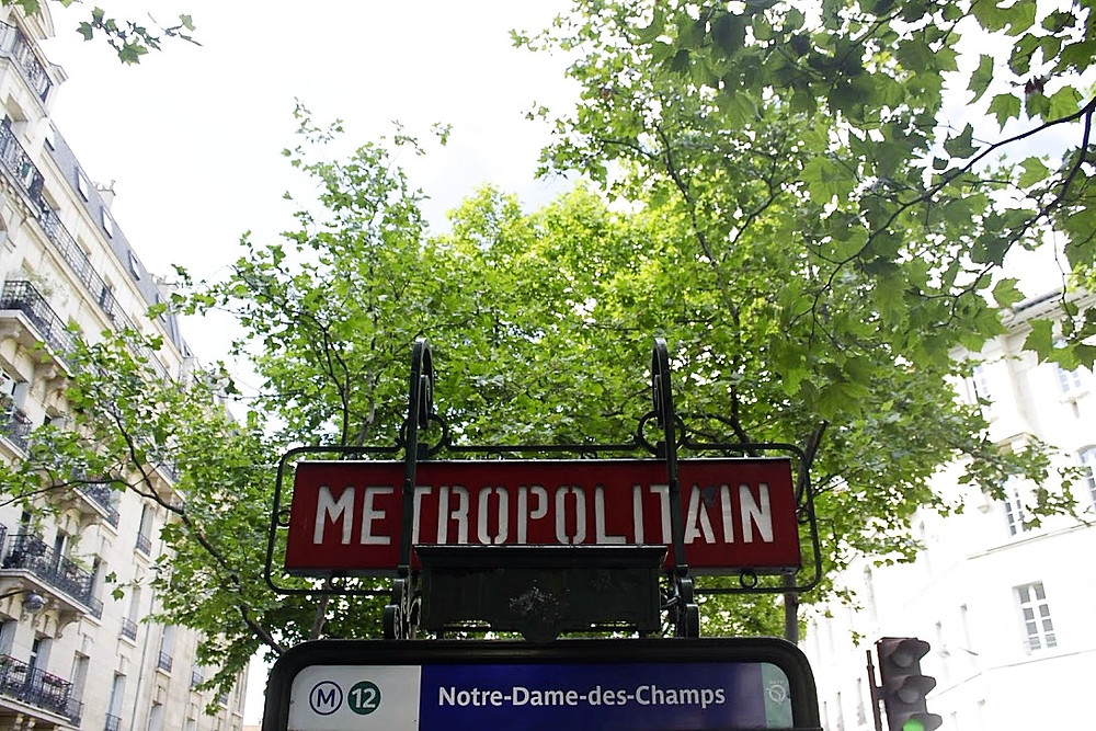 I love seeing all the metro signs in Paris