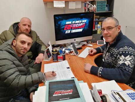 Il Team rocchi e la boxing club di Fiumicino con Federico fava sono ufficialmente ad ENFUSION 2020