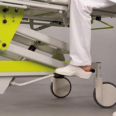 Ergonomisches Fußpedal zur mühelosen Höhenverstellung