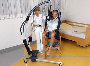 Transfer vom Bett auf Sessel