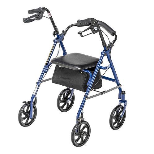 Déambulateur durable à 4 roues avec roulettes de 7,5 po