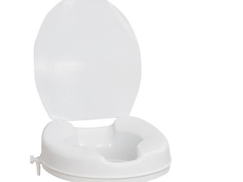 Siège de toilette surélevé AquaSense avec couvercle