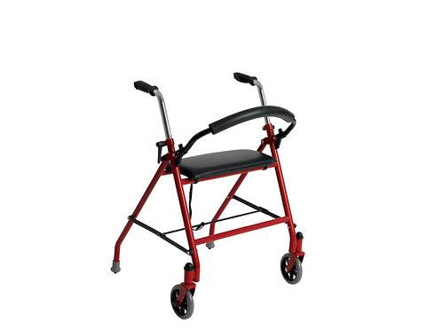 Déambulateur à deux roues avec siège