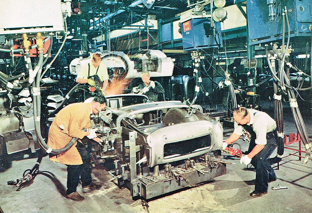 mulliners subsidiary, welding up tr3 bod