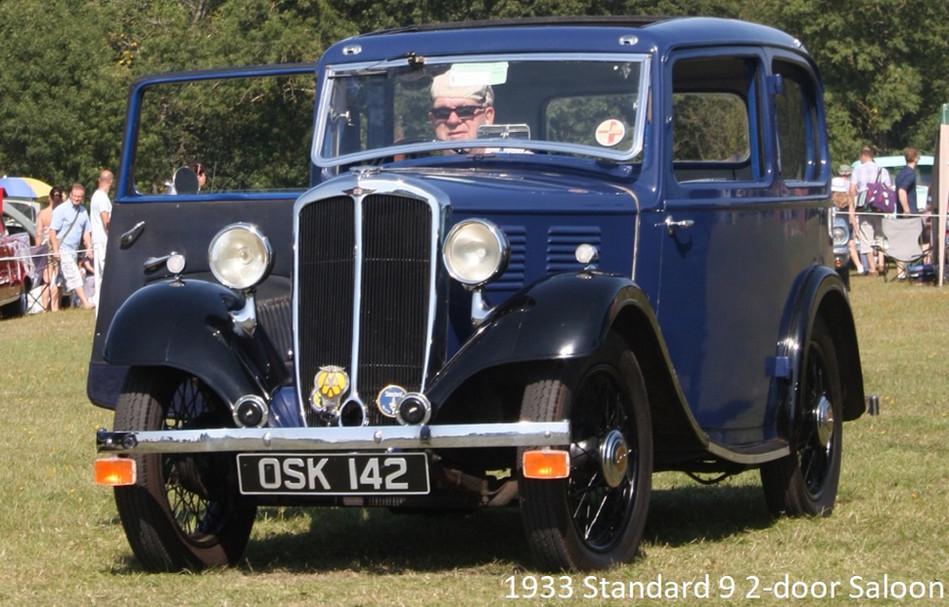 1933 Standard 9 2 door saloon and tite p