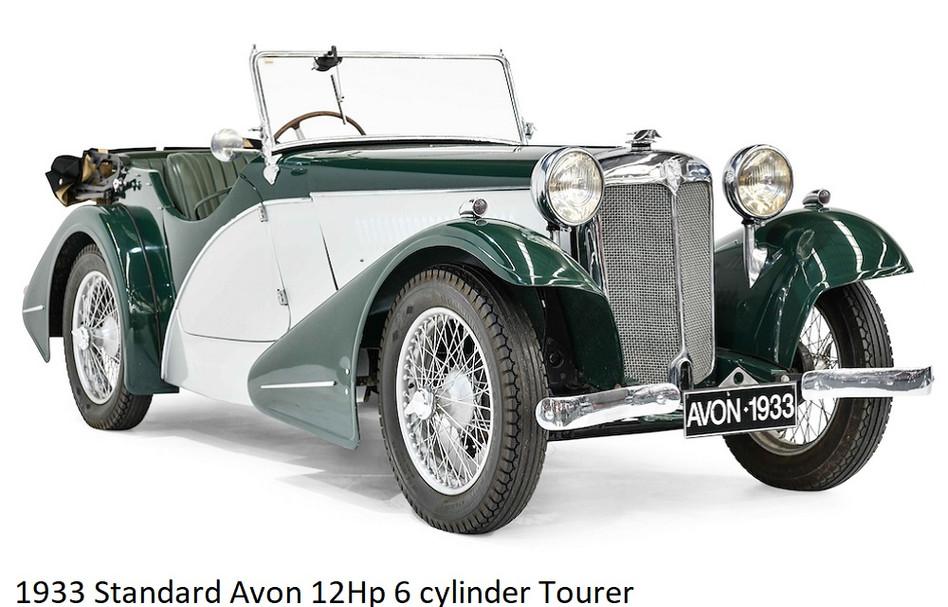 1933 Standard Avon 12Hp 6 Cylinder Toure