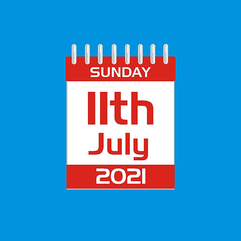 DAY TICKET - SUNDAY 11th JULY 2021