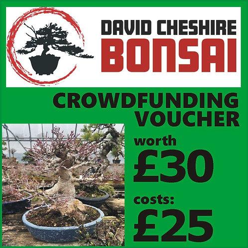 £30 Crowdfunding Voucher