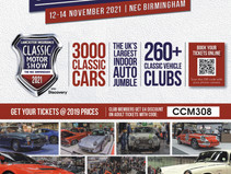 Join us at the Classic Motor Show