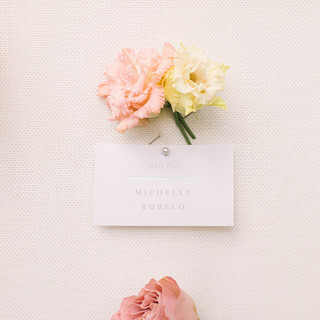 Escort Cards Board with Flowers
