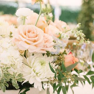 Peach Roses Centerpieces