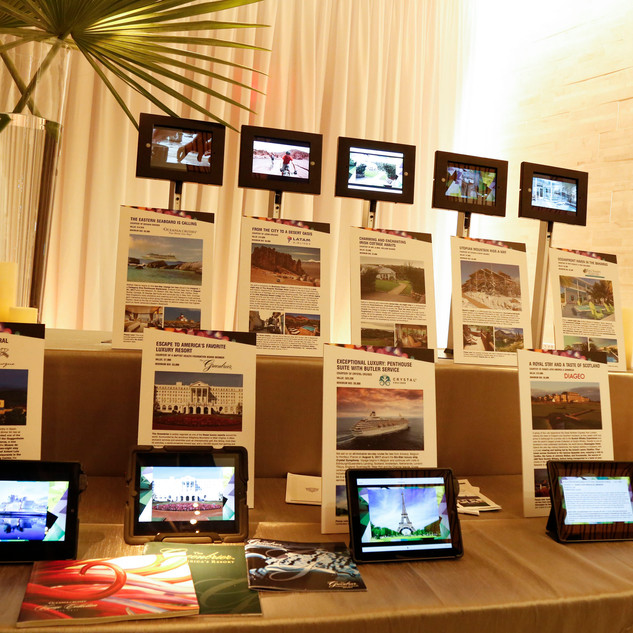 Travel Auction with Ipads Displays