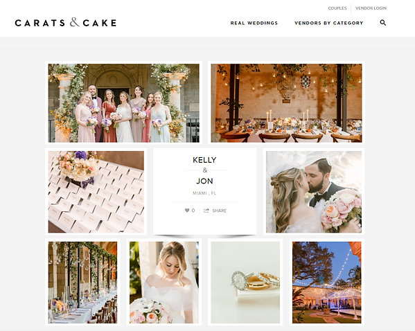 Carats & Cake Real Weddings