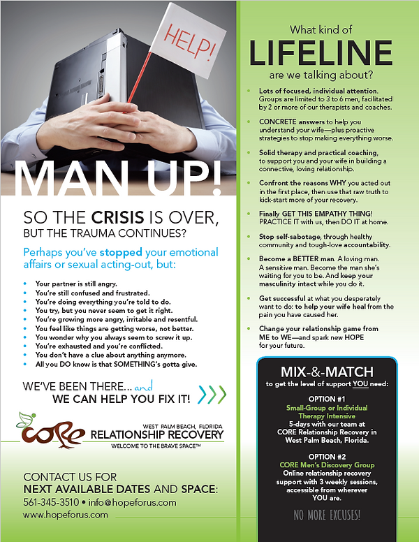 Man Up! CORE small group Mens intensive