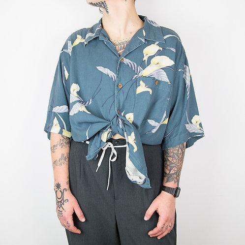 Camisa hawaiana Haggar seda. Talla L