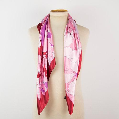 Pañuelo rosa flores