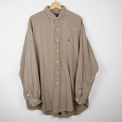 Camisa Ralph Lauren marron. Talla XL