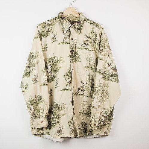 Camisa estampada ciervos. Talla L