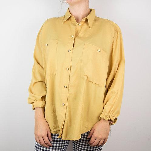 Camisa amarilla Viva. Talla 44