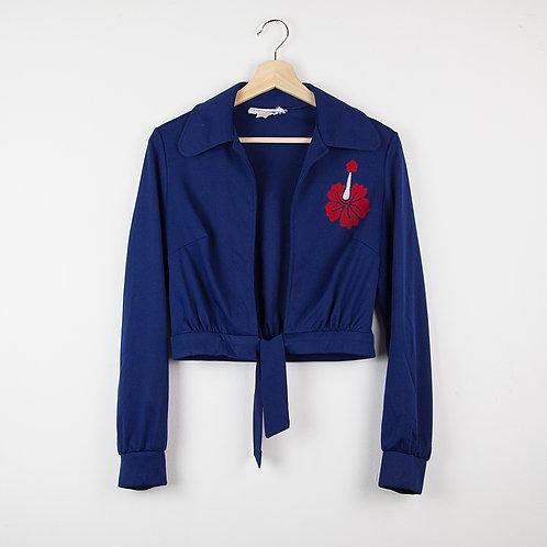 Camisa crop azul. Talla M