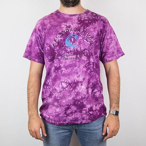 Camiseta tie dye morada. Talla L