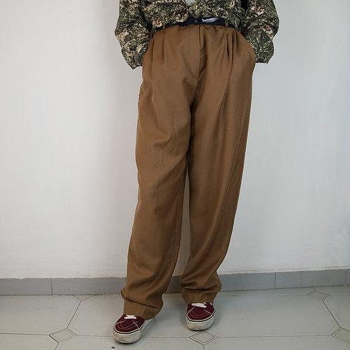 Pantalón 80s ocre. Talla 42