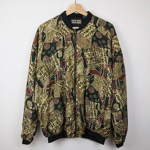 Bomber jacket seda Robert. Talla XL