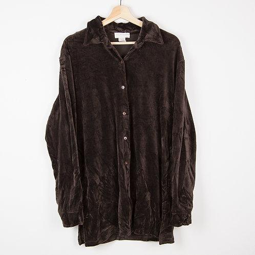 Camisa terciopelo marrón. Talla L