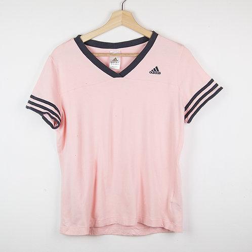 Camiseta rosa Adidas. Talla L(chica)
