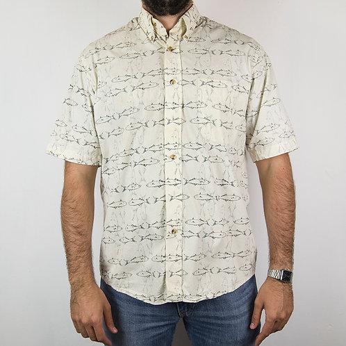 Camisa estampada peces. Talla M