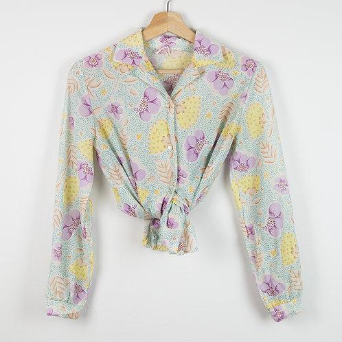 Camisa flores. Talla M