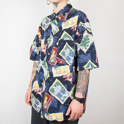 Camisa hawaiana natural issue. Talla L