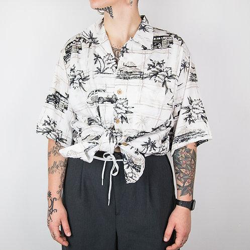 Camisa hawaiana Palm Island. Talla S-M