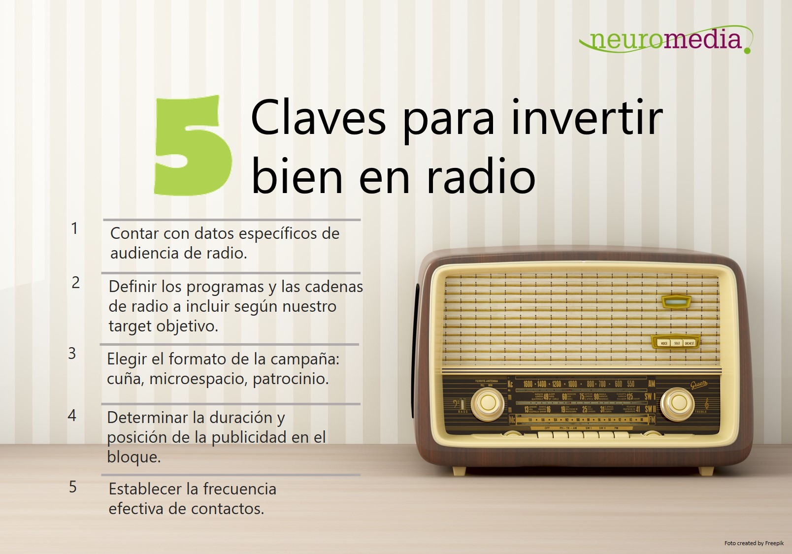 Claves para invertir en radio_Neuromedia