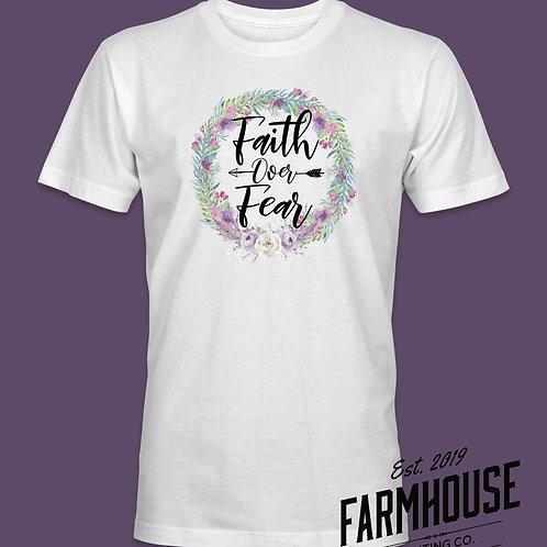 Faith Over Fear Wreath T Shirt
