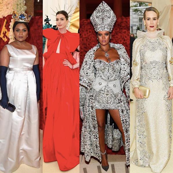 Met Gala 2018; Ocean's 8 Cast; Anne Hathaway, Rihanna, Sarah Paulson, Mindy Kahling