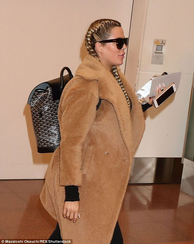 Pregnant Khloe Kardashian in Tokyo, Japan