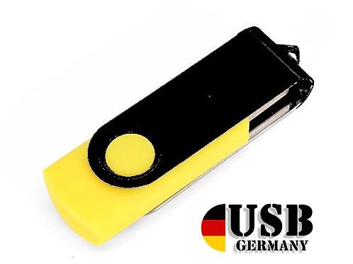 USB Stick Swivel Twister Gelb / Schwarz 2.0