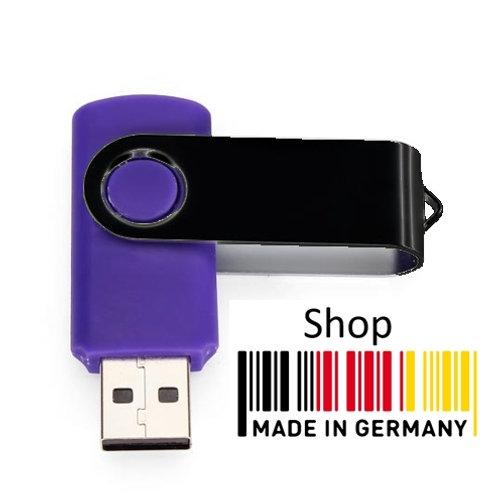 USB Stick Swivel Twister Blau / Schwarz 2.0
