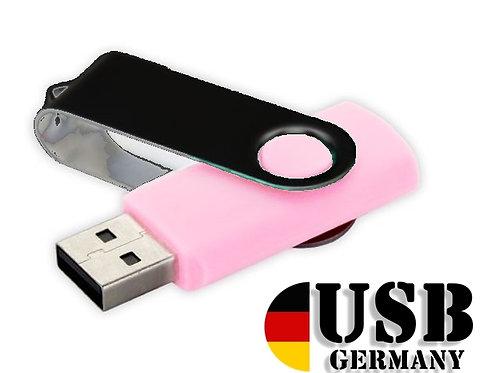 USB Stick Swivel Twister Rosa / Schwarz 2.0