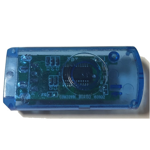 Blau Transparent Halbschale für USB Stick Swivel / Twister